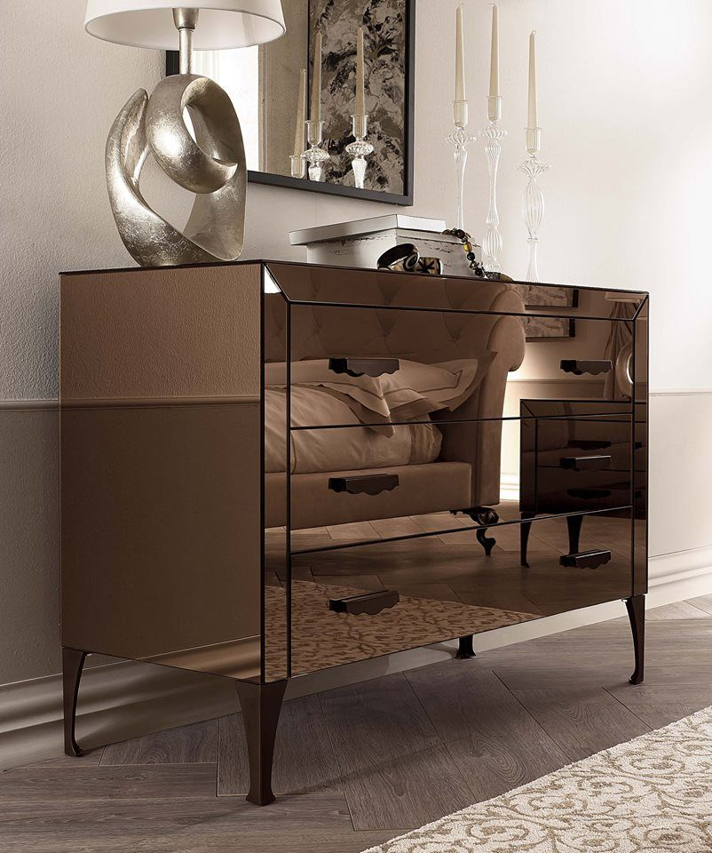 Mirrored Bedroom Furniture By Cantori Adone Chest Of Drawers