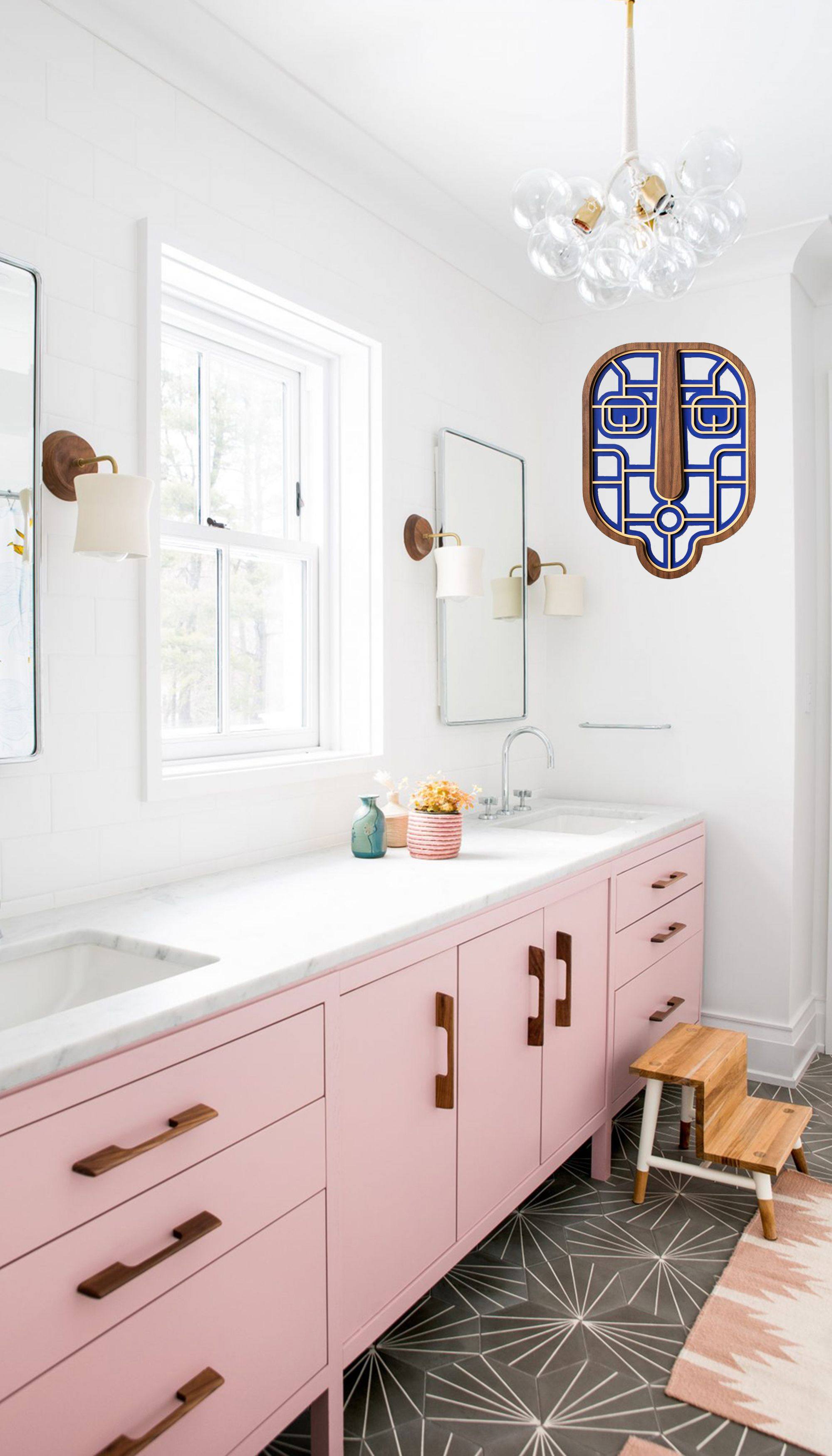Colorful Aesthetic Bathroom Design With Wall Mask With Images