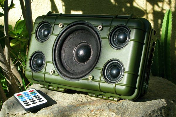 Weekend Project Make A Diy Heavy Duty Outdoor Bluetooth Speaker Diy Bluetooth Speaker Outdoor Bluetooth Speakers Speaker Projects