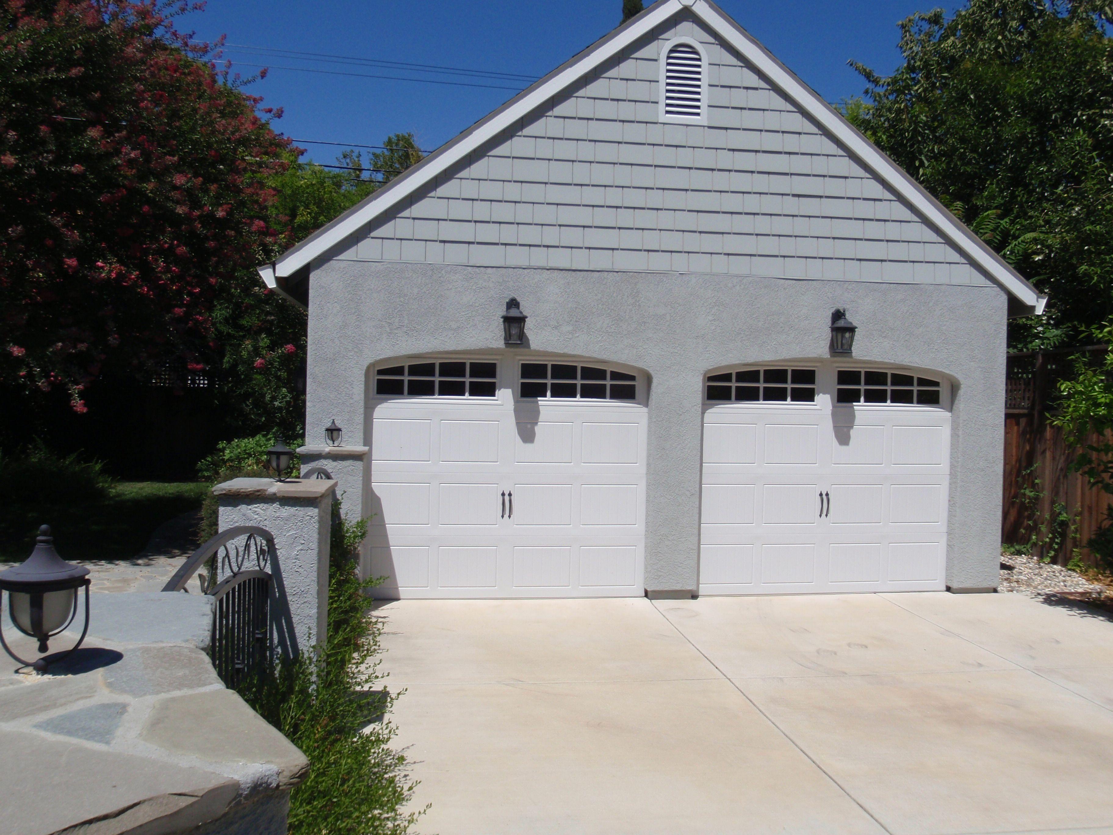 Two Single Garage Doors Single Garage Door Outdoor Decor