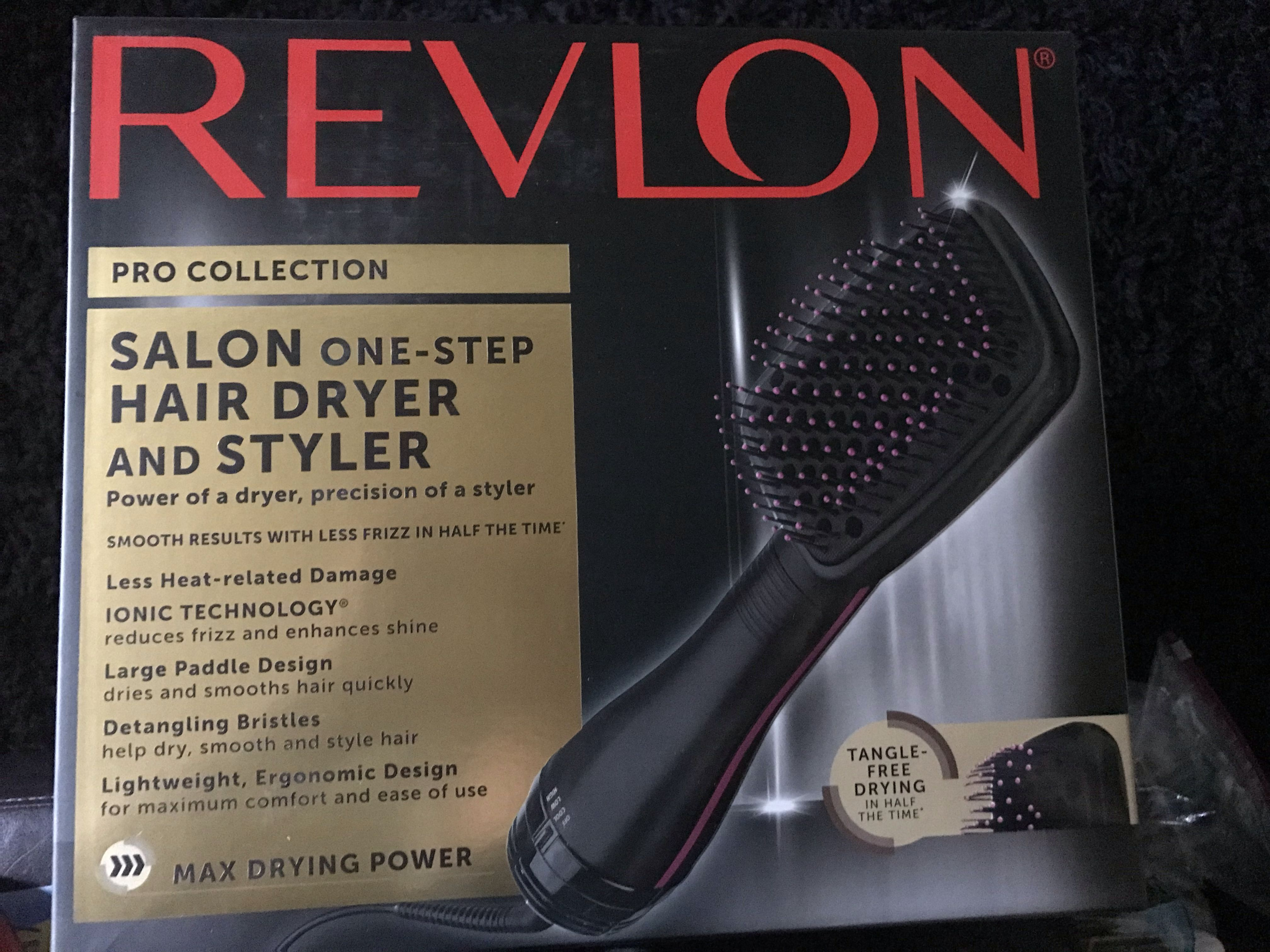 Trying out Revlon's blow dryer brush on type 4 hair in