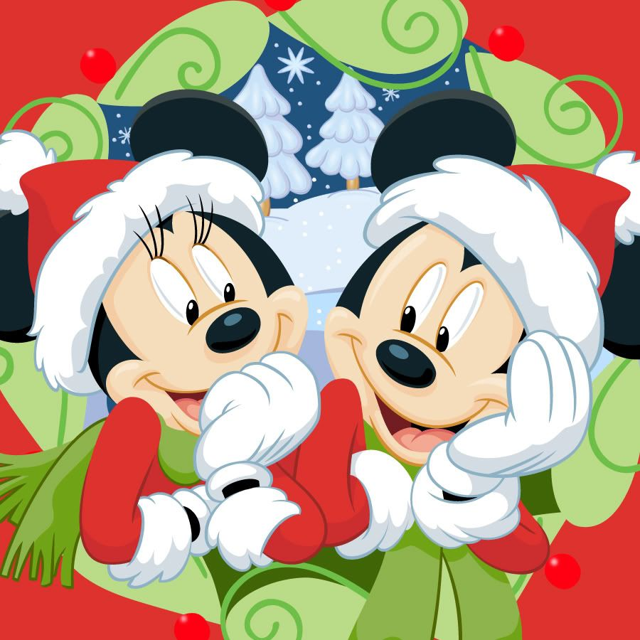 minnie and mickey mouse christmas disney mickey en minnie