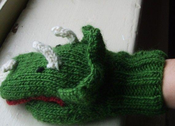 Dinosaur Mittens Knitting Crochet Patterns Pinterest