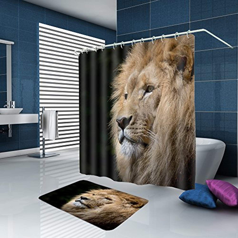 Alfalfa Home Bathroom Decorative Polyester Fabric Animal Theme