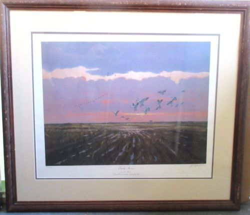 AL-BARNES-LIMITED-EDITION-SIGNED-NUMBERED-PRINT-EARLY-SNOWS-DUCKS-UNLIMITED