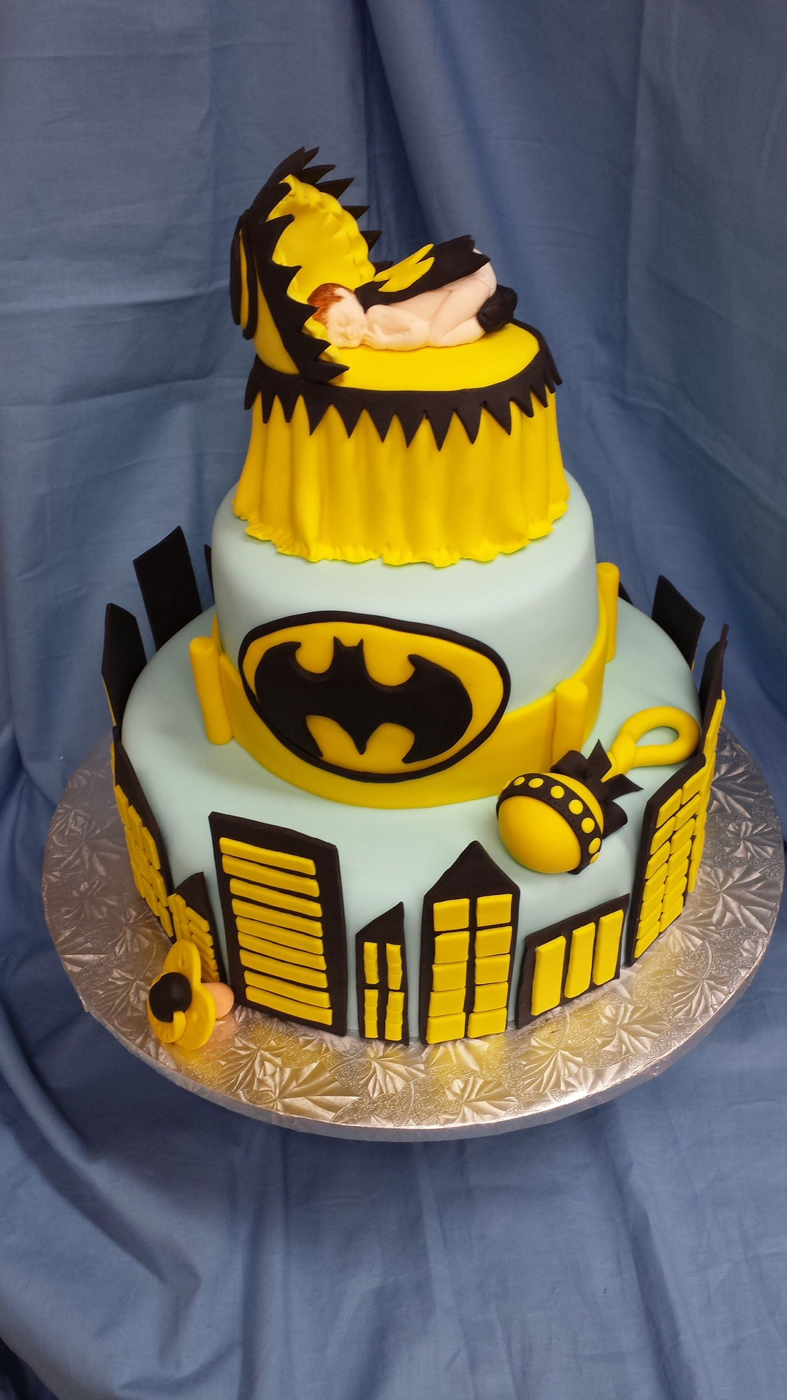 Batman Baby Shower Cake Baby Shower Cakes Pinterest Shower