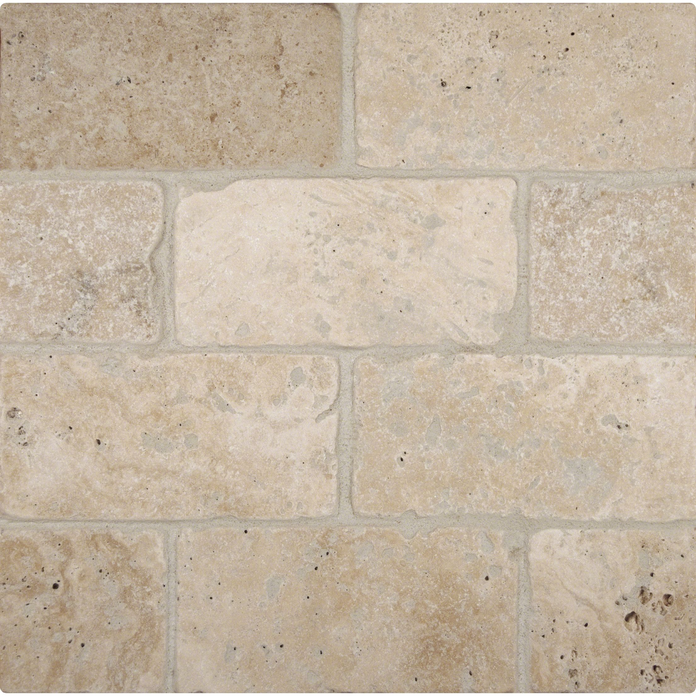 Tuscany Classic 3 X 6 Travertine Subway Tile In Tumbled Beige