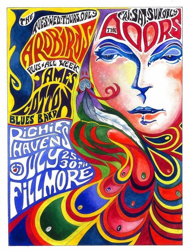 Wonderbaarlijk kleurrijke jaren 60 poster   Albumhoezen, Concertposters, Poster JU-15