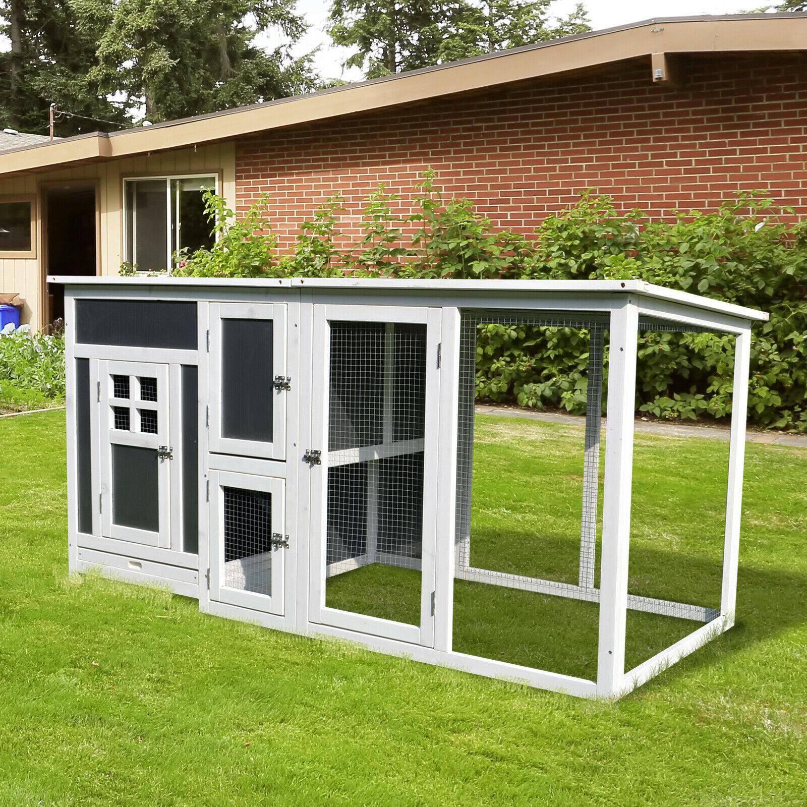 63 Wooden Tall Indoor Outdoor Chicken Coop House W Run Nest Box 842525131230 Ebay Outdoor Indoor Outdoor Coop