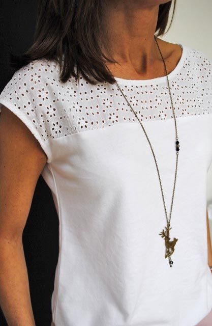 Cómo hacer y coser una blusa blanca básica   Manualidades
