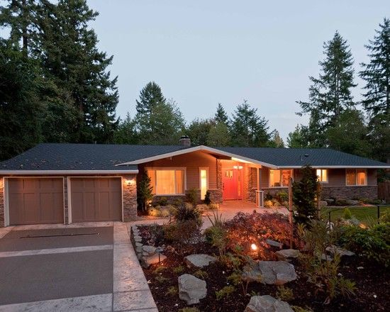 Exterior 70's Ranch Design, Pictures, Remodel, Decor And