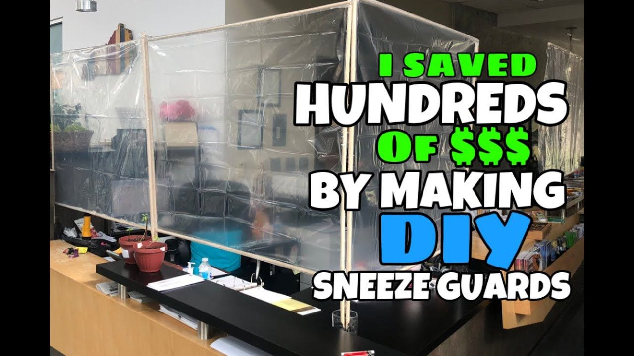 I saved HUNDREDS making INEXPENSIVE DIY Sneeze Guards for