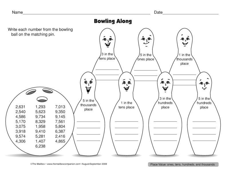 Bowling Along, Lesson Plans - The Mailbox | Education - Math ...