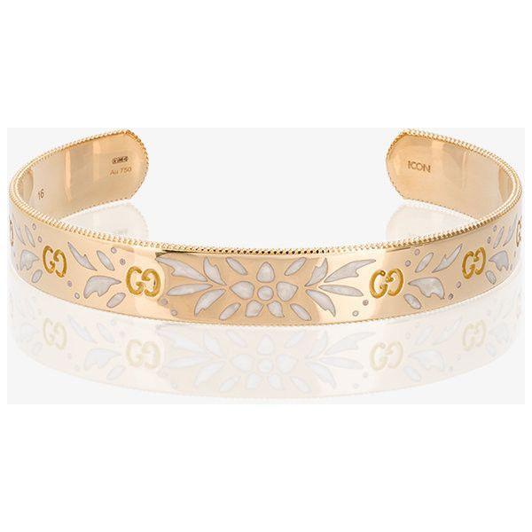 Gucci Large Icon bracelet in yellow gold C2Jkwu