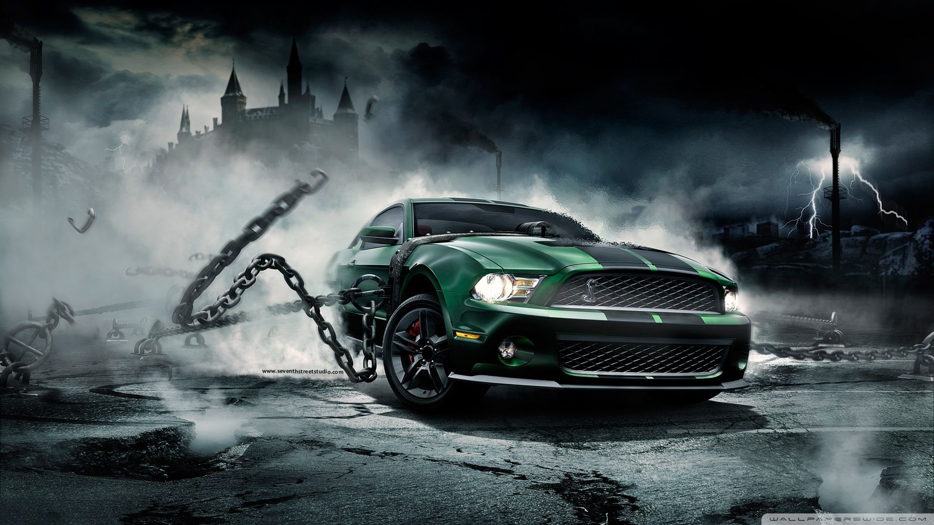Green Mustang Shelby Ford Mustang Shelby Green 1920x1080 Hd