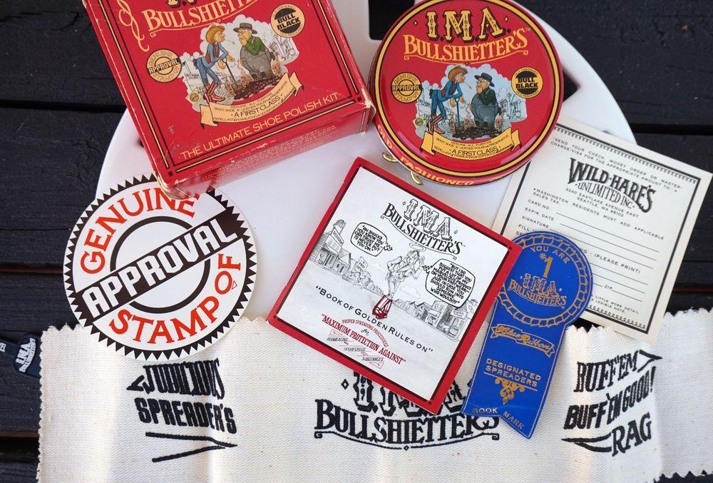 Man Cave Gag Gifts : Vtg 1980's novelty shoe polish kit ima bullshietter's funny gag gift