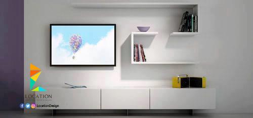 احدث كتالوج صور ديكورات مكتبات تلفزيون 2017 2018 لوكشين ديزين نت Floating Shelves Living Room Shelves Floating Shelves