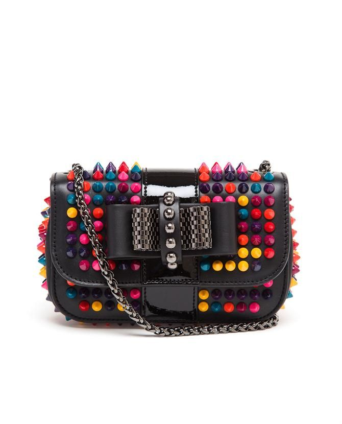 Shoulder Christian Louboutin Charity Leather Sweet Spiked 4qjL35RA