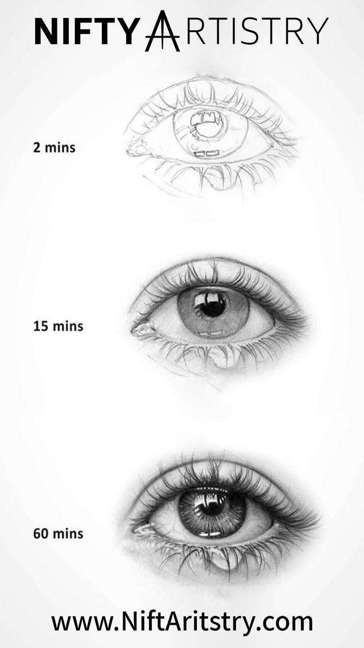 NEU Detaillierte und realistische Augenzeichnung #cantaps