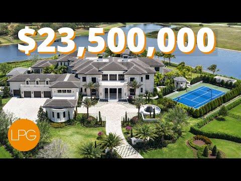 Inside The Biggest Most Epic Mega Mansion In Florida 23 5 Million Youtube Mansions Mega Mansions Dream Mansion