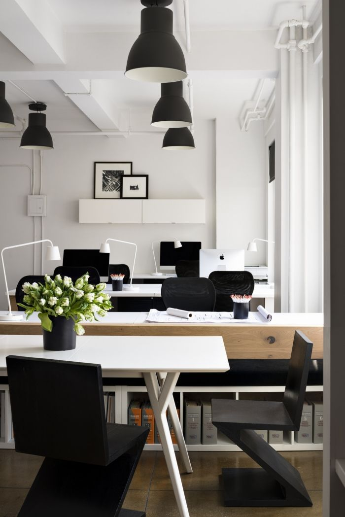 office tour bhdm design new york city offices working area rh pinterest com modern small office interior design modern small home office design