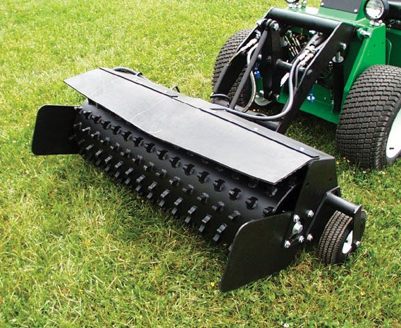 THIS IS A POWER RAKE! How to power rake your lawn??? How To