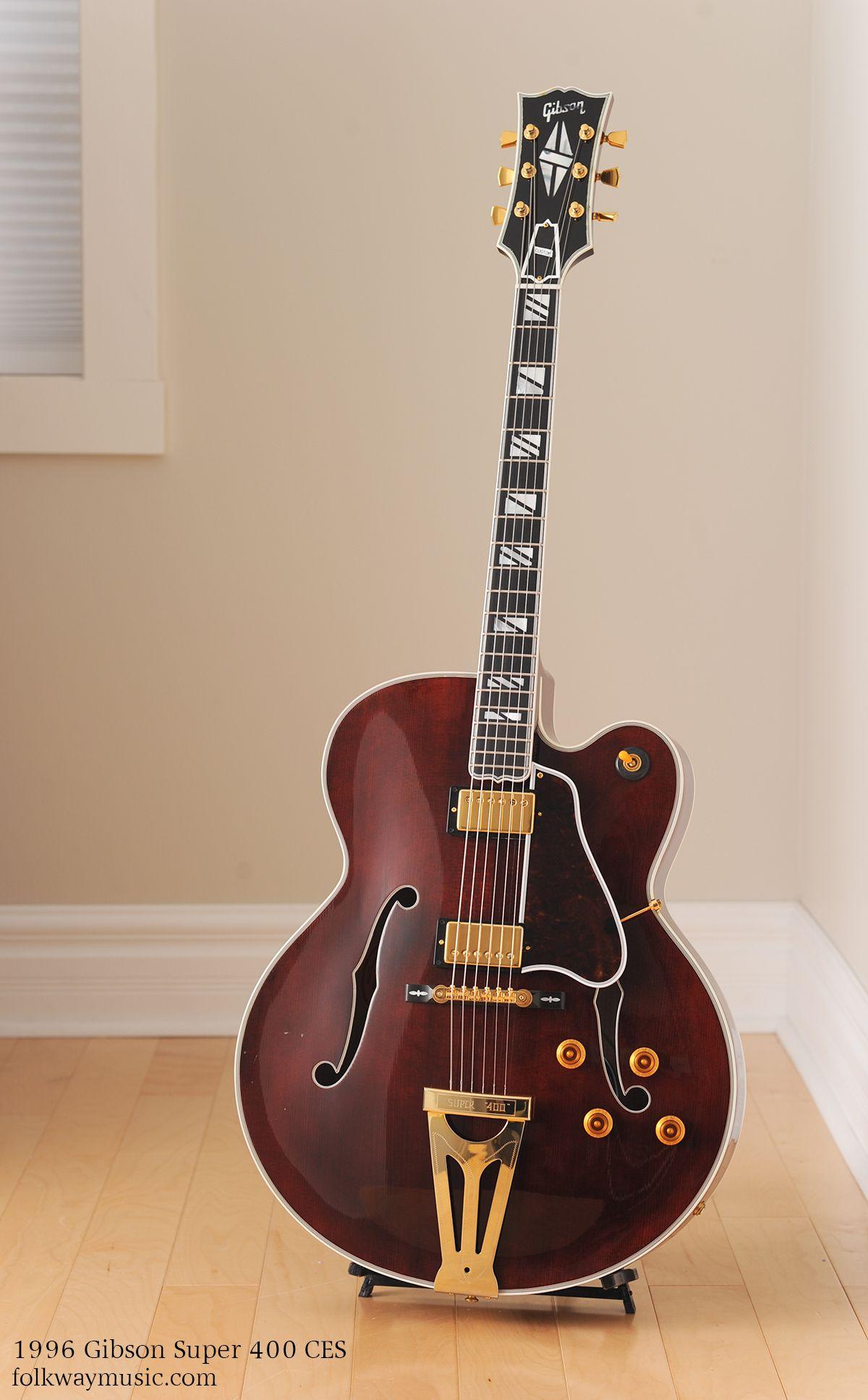 Gibsonsuper400ces 0317 Main 1489698542 Jpg 1200 1935 Vintage Guitars Cool Electric Guitars Gibson Guitars