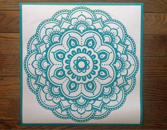 Flower Stickers Mehndi : Flower decal mandala car laptop sticker vinyl wall