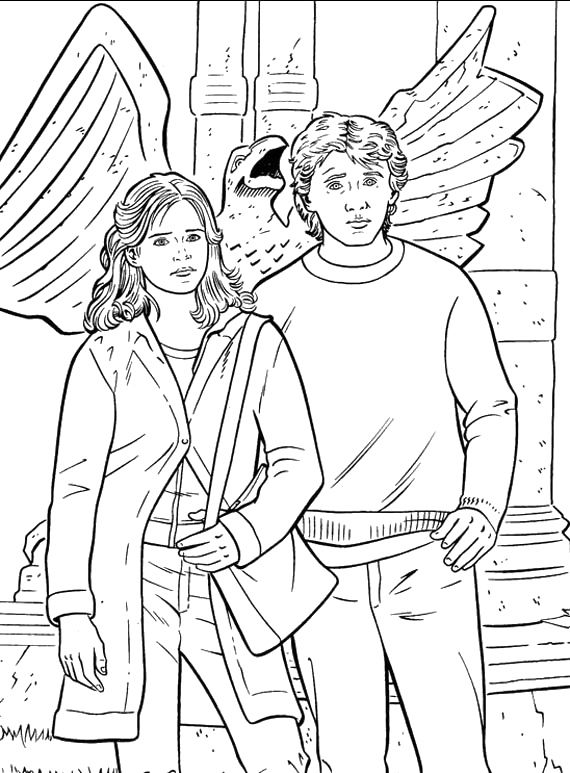 Ron With Hermione Coloring Pages Harry Potter Coloring Pages Kidsdrawing Free Coloring Pages Online Coloriage Harry Potter Coloriage Harry Potter