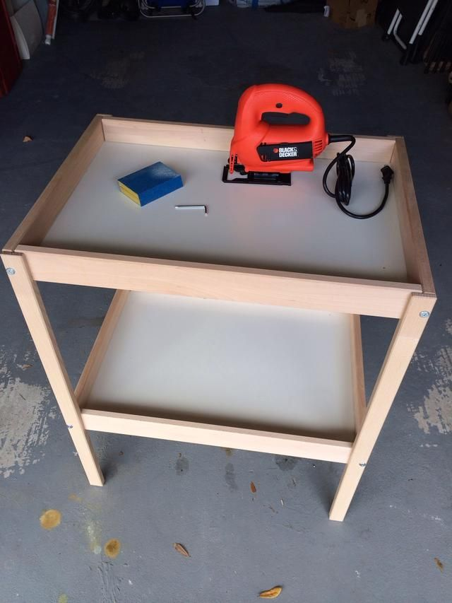 How To Make 2 Play Tables From An Ikea Changing Table