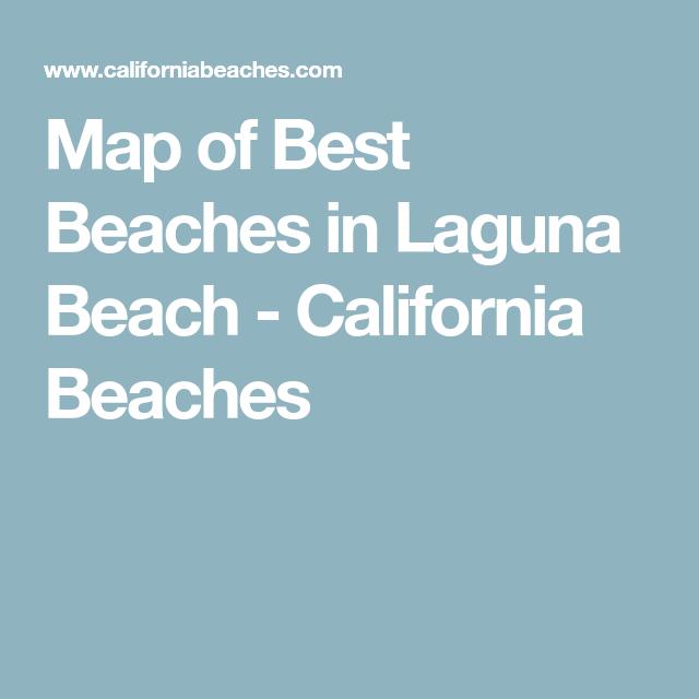 Treasure Island Laguna Beach: Map Of Best Beaches In Laguna Beach
