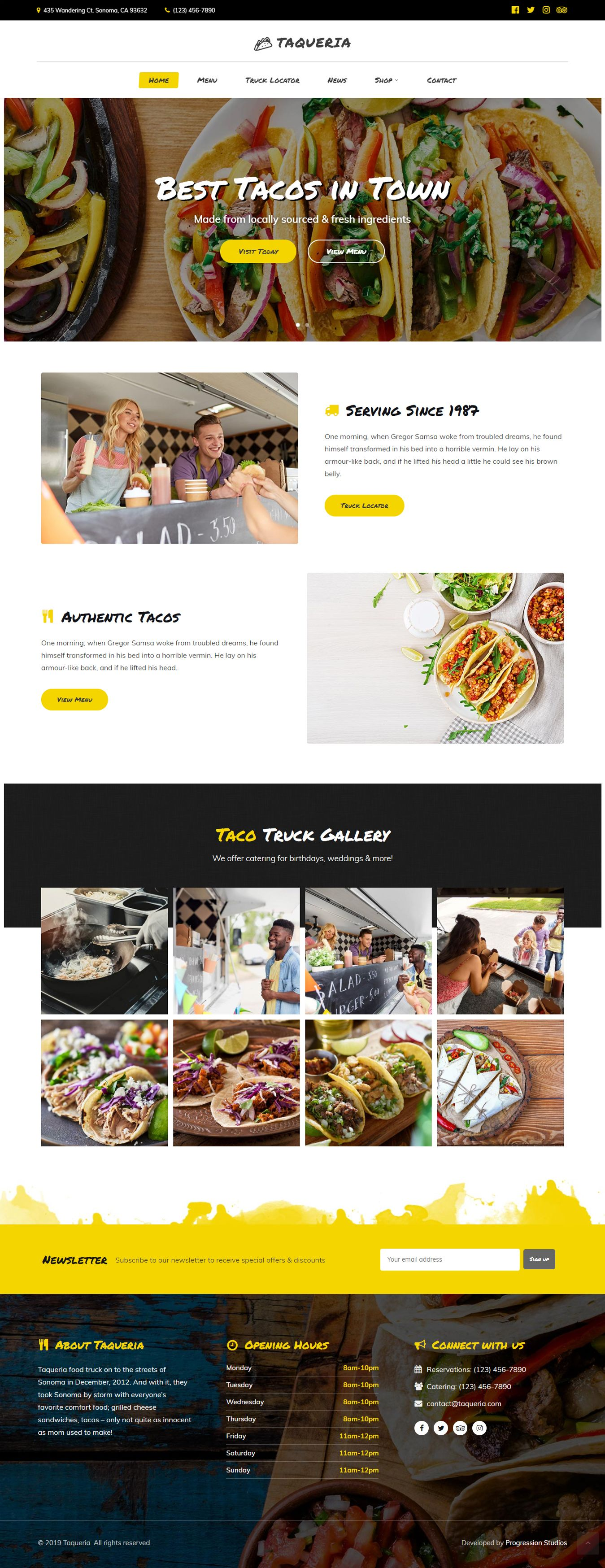 Taqueria Food Truck Restaurant Theme Truck Restaurant Restaurant Themes Restaurant Wordpress Themes