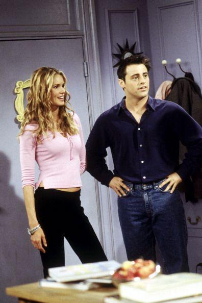 Joey (Matt LeBlanc) with his roommate Janine Lecroix (Elle McPherson), the sexy dancer ~ Friends Season 6, Episode 7: The One Where Phoebe Runs ~ Episode Stills