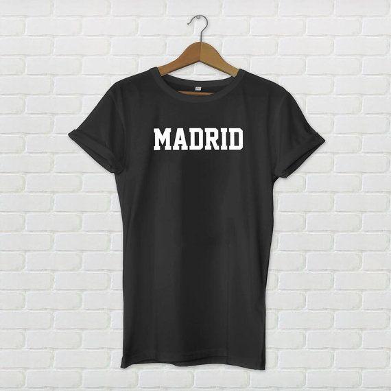 Madrid Varsity stijl T-Shirt-zwart