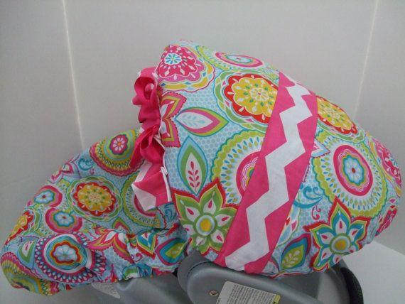 Colorful floral/medallion print/hot pink and by JacquesBebeDesigns, $45.99