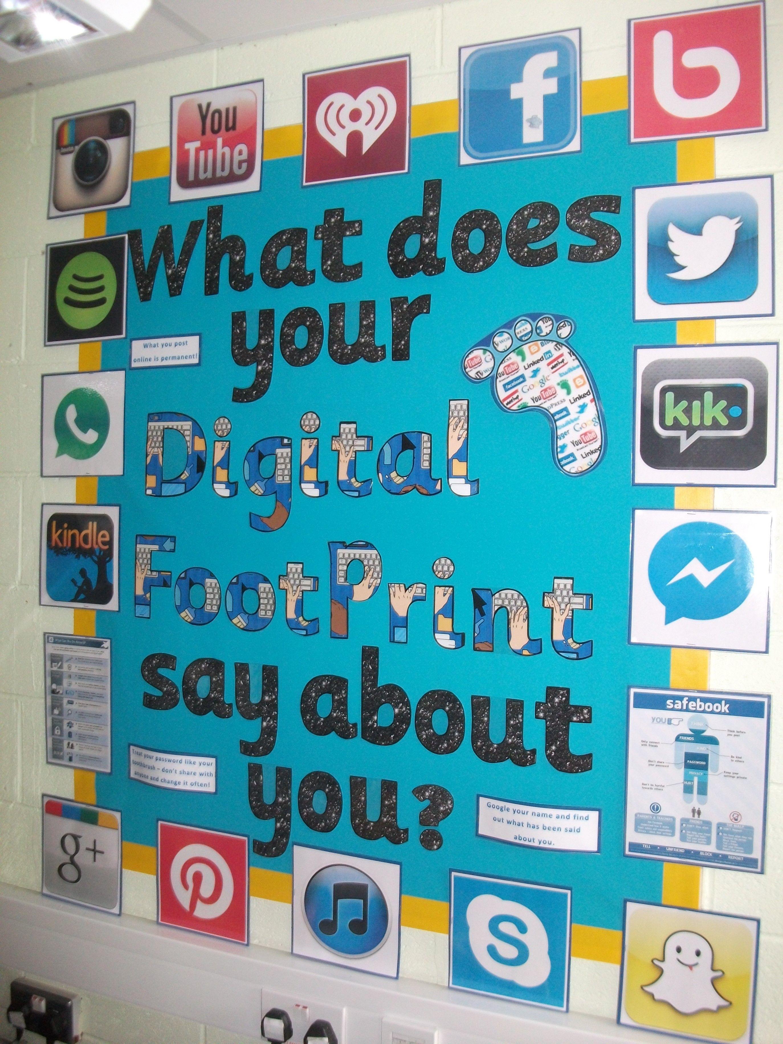Digital footprint | Digital footprint, Digital literacy, Education  elementary math