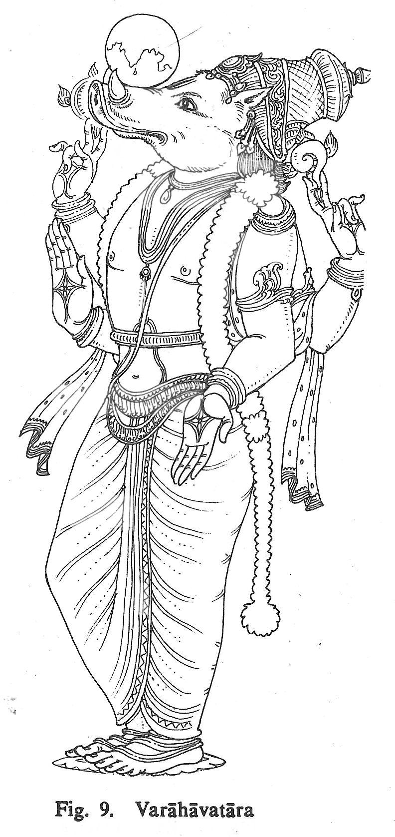 Varahavatara mural painting mural art indian gods indian art god tattoos