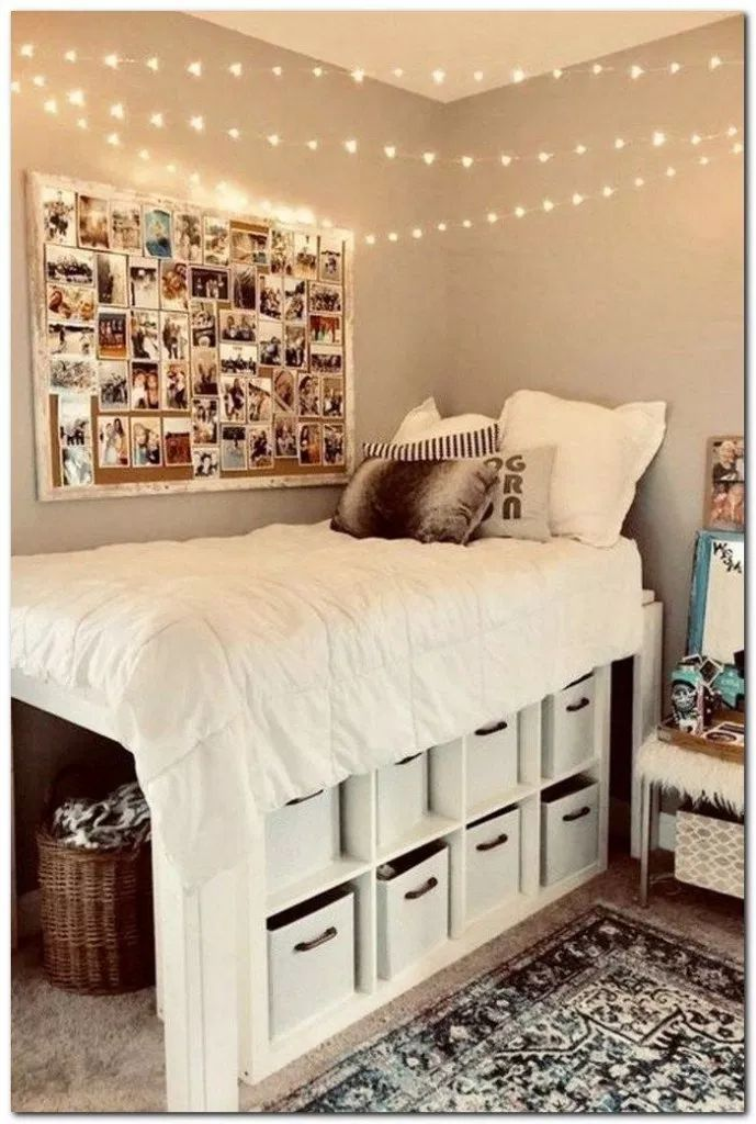 32 Wahnsinnig süße Ideen für Schlafsäle #dormroom #dormroomdecor #dormroomideas  All #collegedormrooms