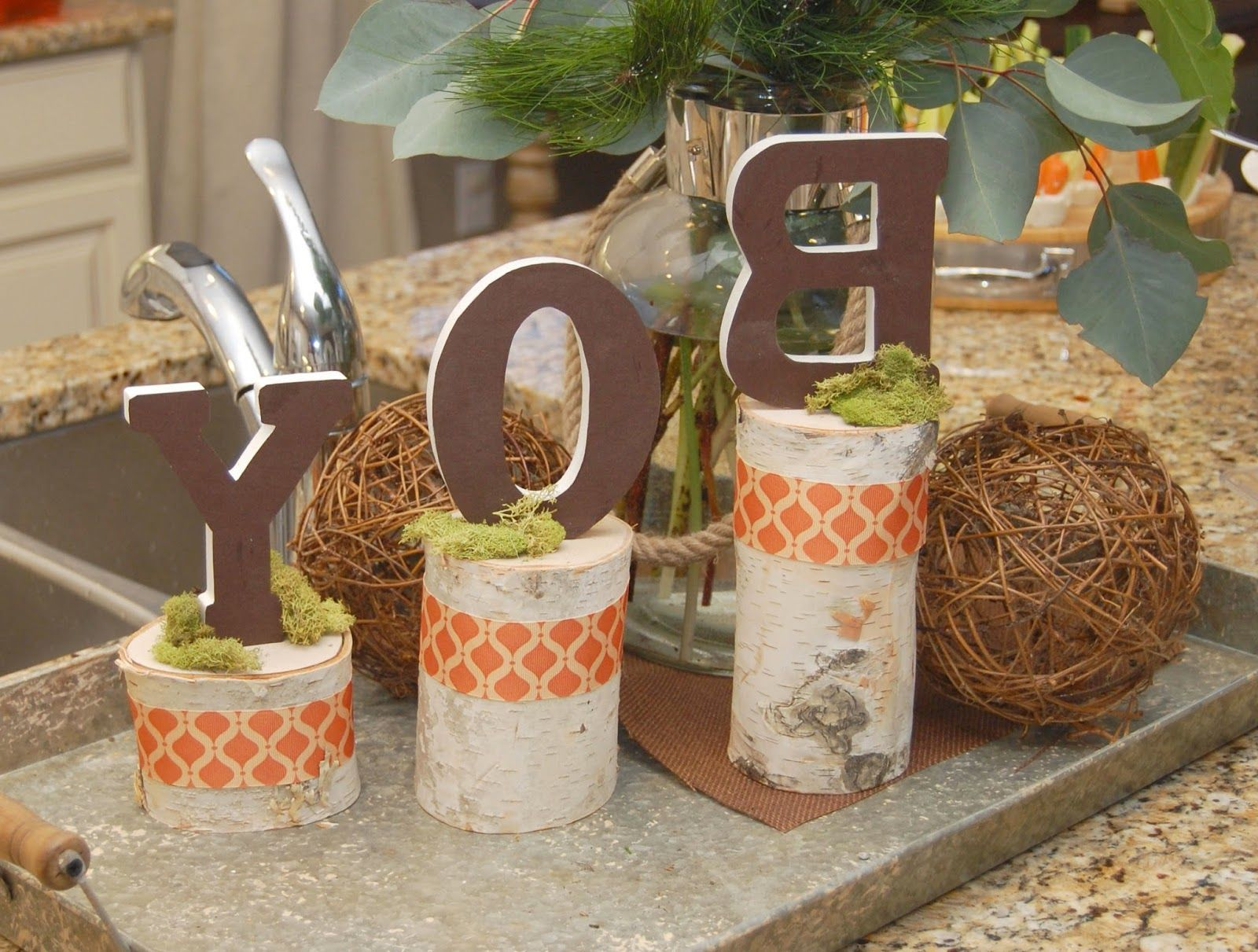 Simple Rustic Woodland Themed Baby Boy Shower Decoration With Nice
