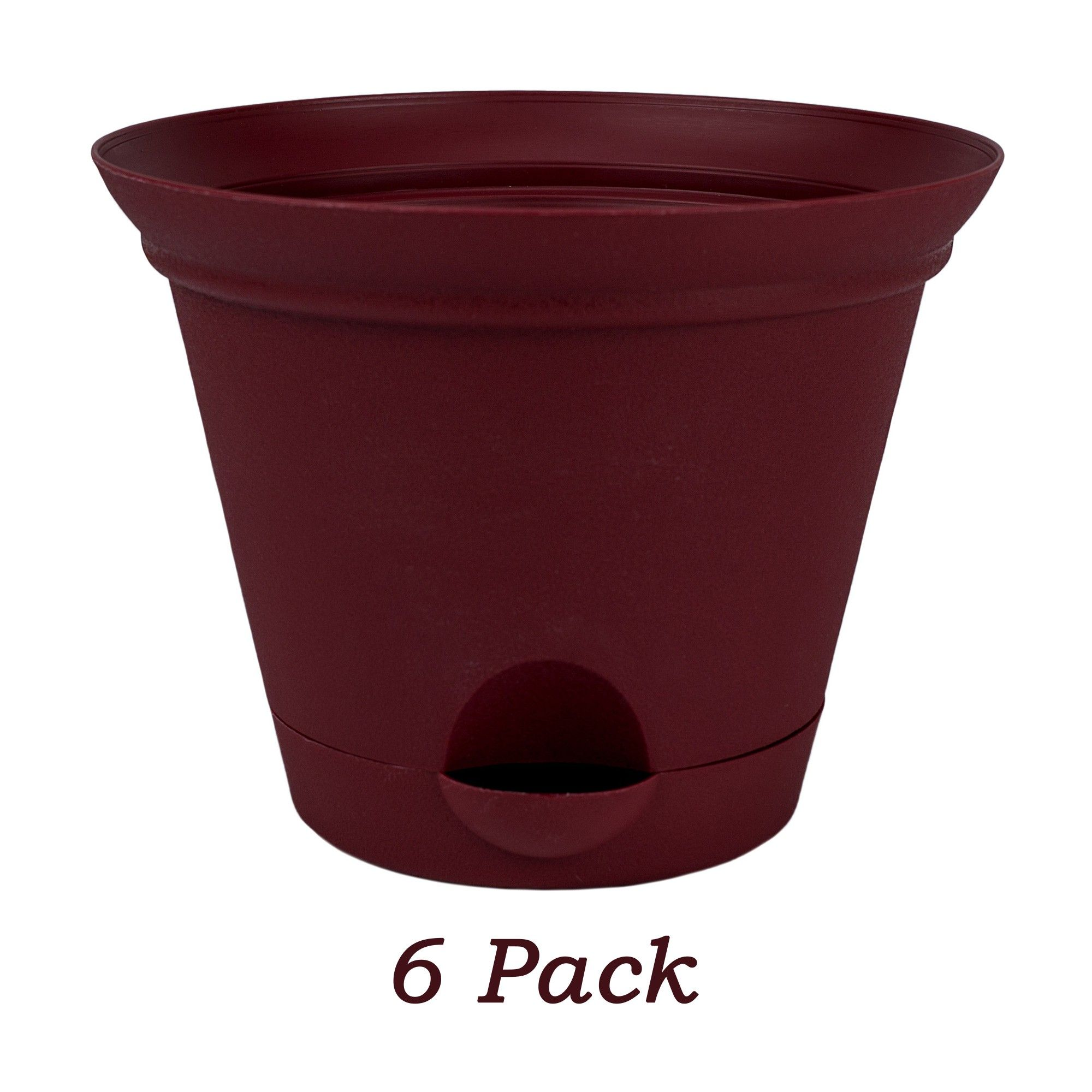 Misco 6 Pack 7 Inch Salsa Red Plastic Self Watering Flare Flower Pot Or Garden Planter Garden Planters Self Watering Flower Pots