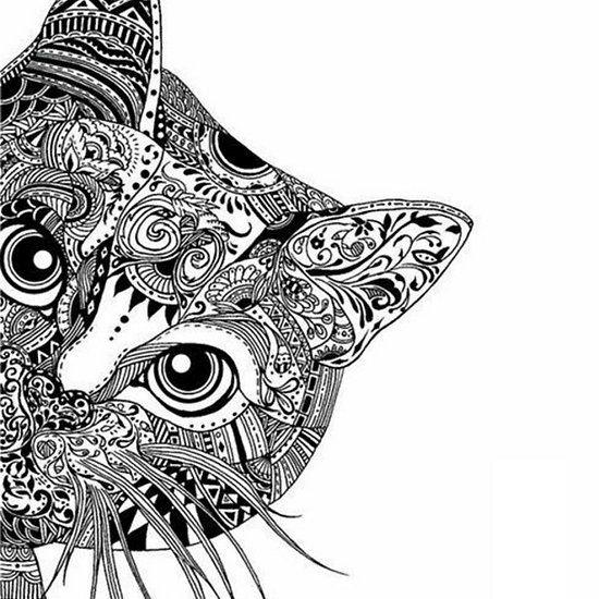 Mandala Cat by kyrafoobs | Mandala design art, Cat mandala ...