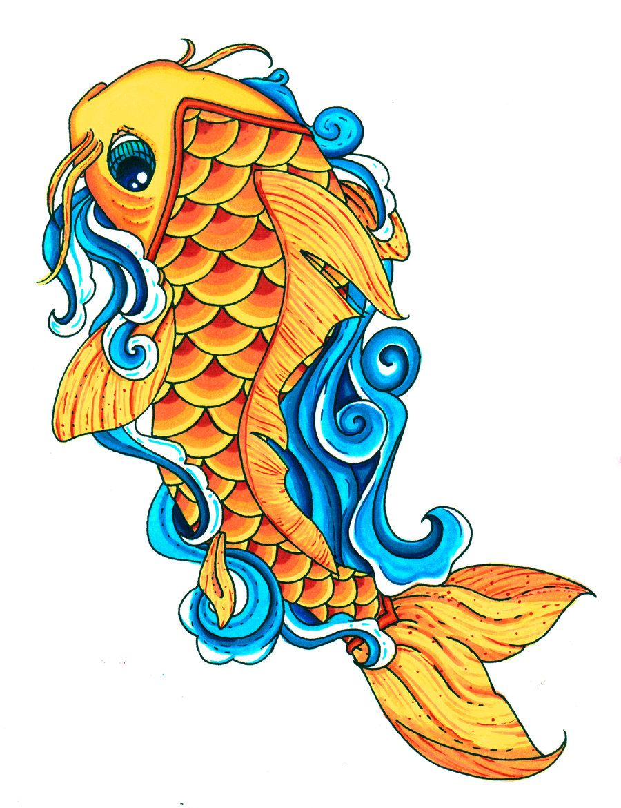 koi fish drawings koi fish color by pick your poison on deviantart
