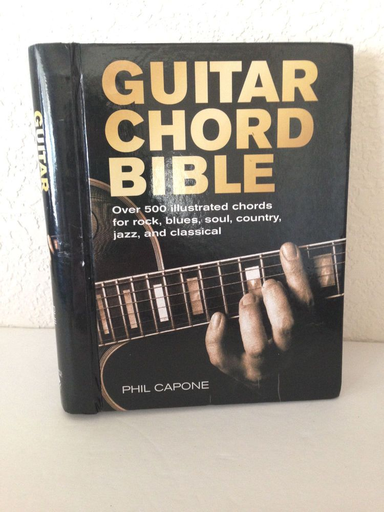 Guitar Chord Bible Hardcover Book Over 500 Illustrated Chords By