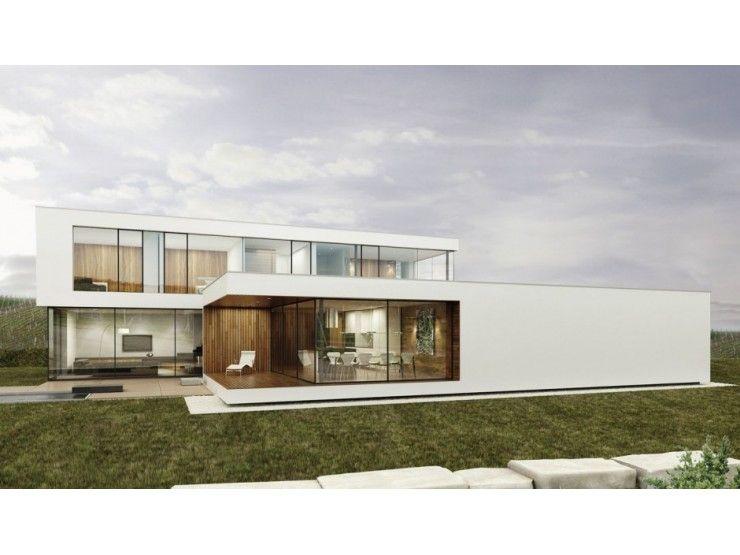 Avantgarde 04l einfamilienhaus von blackline hausxxl fertighaus energiesparhaus - Fertighaus flachdach modern ...