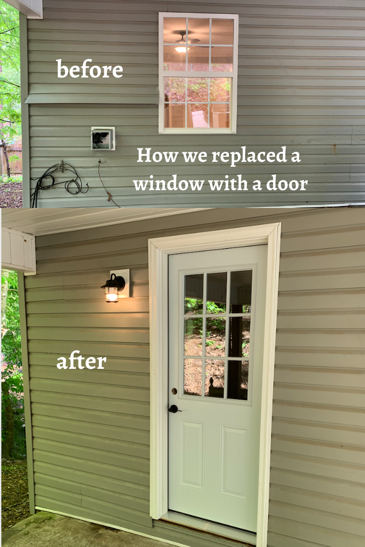 Replacing A Window With An Exterior Door In 2020 Small Exterior Doors Installing Exterior Door Diy Exterior Door