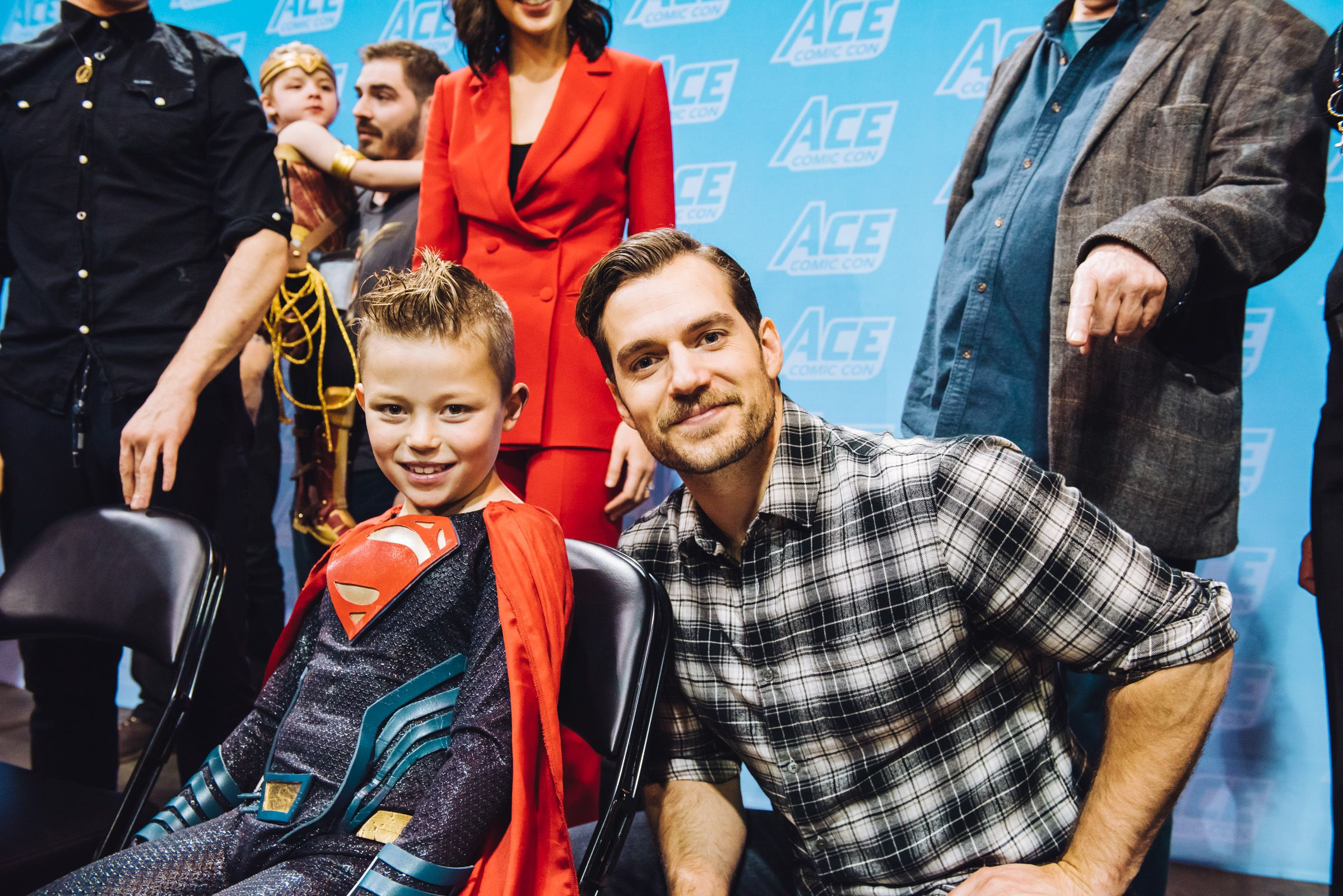 Henry Cavill taking photo ops at ACE Comic Con Long Island