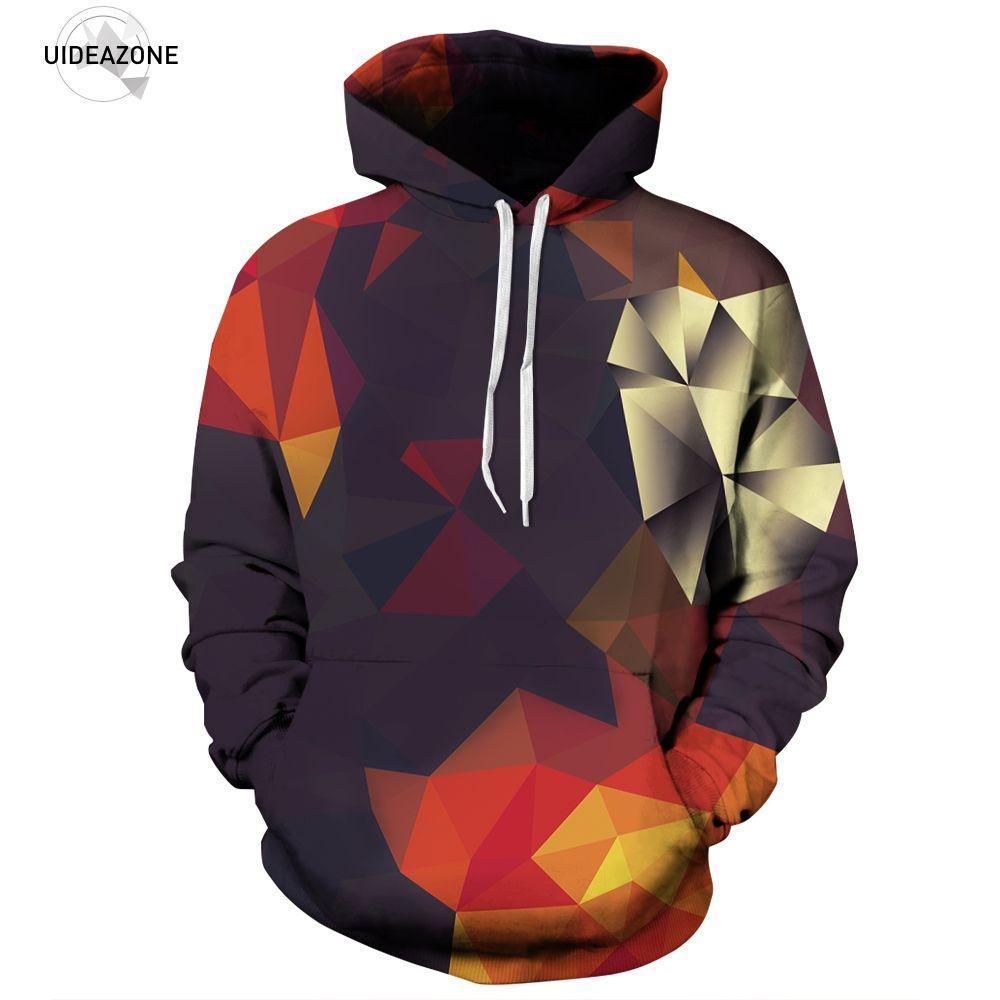 Uideazone Hommes Le Impression Blocs Hoodies Sweats 3d Couleur Avec qrrxwpBn8