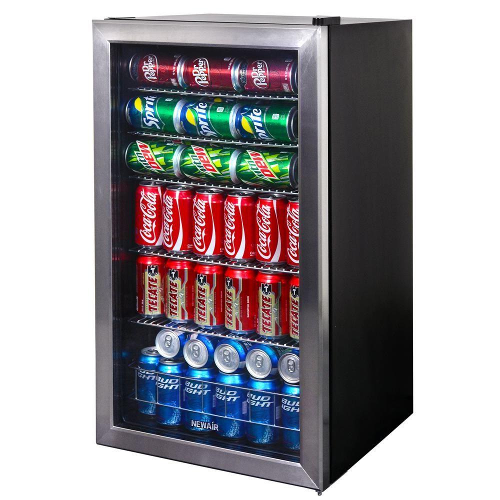 Newair 19 In 126 12 Oz Can Cooler Ab 1200 The Home Depot Beverage Cooler Beverage Center Beer Fridge
