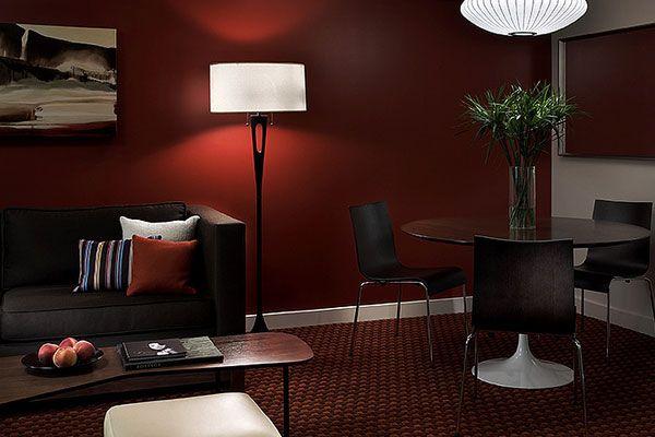 Burgundy Modern Living Room Maroon Living Room Living Room Wall Color Living Room Red