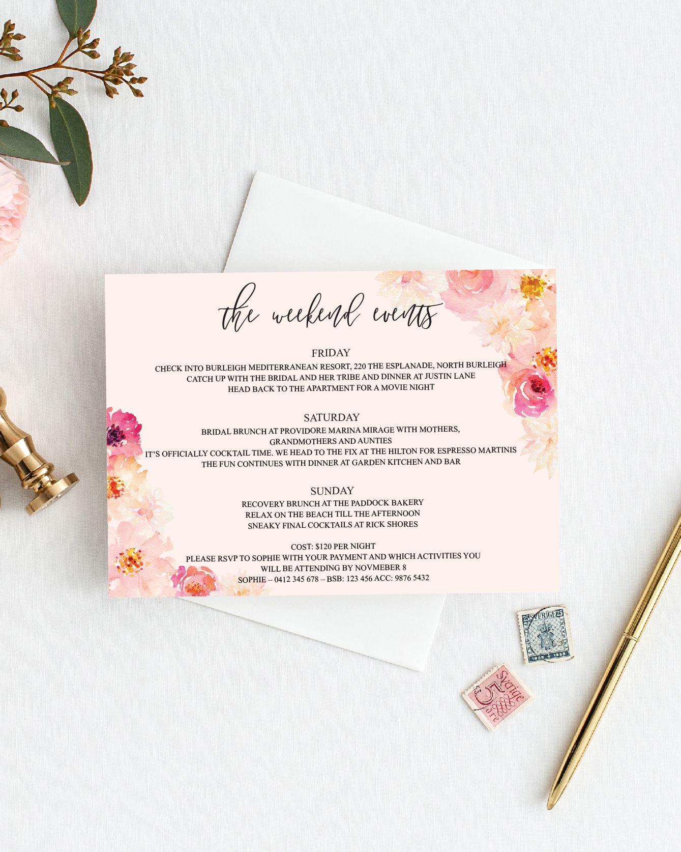 printable bachelorette itinerary template weekend itinerary